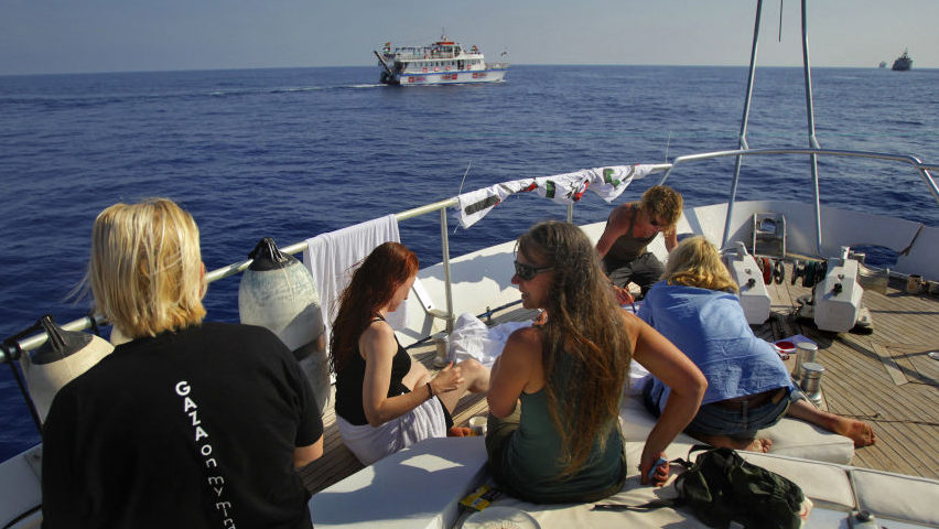 picture of US boat to Gaza, 2011, Greece