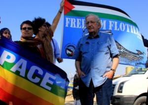 Noam Chomsky in the port of Gaza, October 2012.